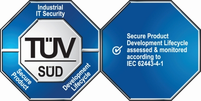 TUEV SUED IEC62443 certification mark